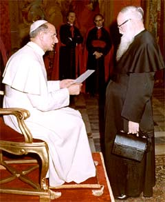 Joseph Kentenich in Privataudienz bei Papst Paul VI.